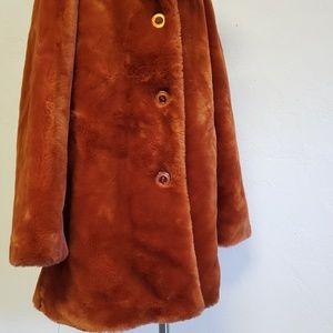 Mont Blanc Jackets & Coats - Month Blanc Faux Fur Coat Collared